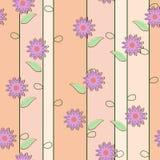 Leuke bloemen naadloze achtergrond Stock Foto