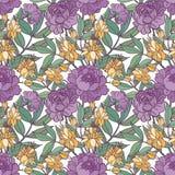 Leuke bloemen naadloze patroonachtergrond Stock Foto's