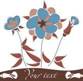 Leuke bloemenachtergrond Stock Foto's