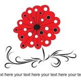 Leuke bloemenachtergrond vector illustratie