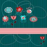 Leuke bloemenachtergrond Royalty-vrije Stock Afbeeldingen