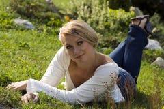 Leuke blond royalty-vrije stock afbeeldingen