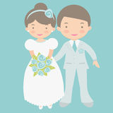 Leuke bruid en bruidegom Stock Foto's