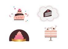 Leuke cakes vector illustratie