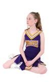 Leuke Cheerleader in Officieuze Naam en Kleuren Royalty-vrije Stock Afbeeldingen