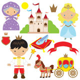 Leuke cinderella fairytale vectorillustratie royalty-vrije stock afbeelding