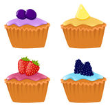 Leuke cupcakes Royalty-vrije Stock Afbeelding