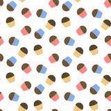 Leuke cupcakes met chocoladeschilfers Stock Foto's