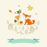 Leuke de herfstkaart vector illustratie