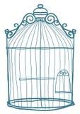 Leuke de kunst van de vogelkooi Stock Afbeelding