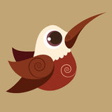 Leuke de vogel abstrac voorhistorische kleur van de kolibrievinger Stock Fotografie