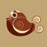 Leuke de vogel abstracte voorhistorische kleur van koningsBird Stock Fotografie