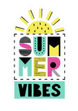 Leuke de zomerkaart Stock Fotografie