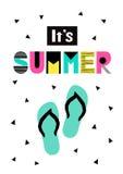 Leuke de zomerkaart Stock Afbeeldingen