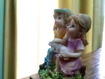 Leuke decoratieve reeks van jongen en meisje Stock Foto's