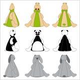 Leuke Dierlijke Beanbag Set2 Royalty-vrije Stock Afbeelding