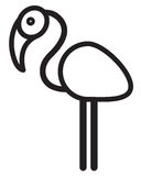Leuke dierlijke flamingo - illustratie Stock Foto
