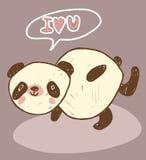 Leuke dierlijke panda met liefde Stock Foto