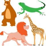 Leuke dierlijke reeks 4 stock illustratie
