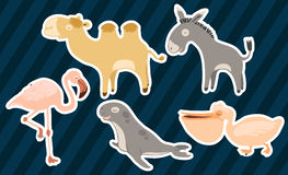 Leuke dierlijke stickers Stock Foto's