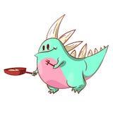 Leuke dinosaurus of draak Stock Afbeelding