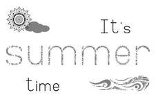 Leuke druk - de zomertijd Stock Afbeeldingen