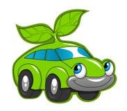Leuke eco vriendschappelijke auto Stock Afbeelding