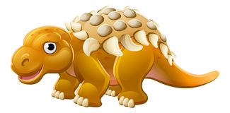 Leuke Edmontonia-Beeldverhaaldinosaurus royalty-vrije illustratie