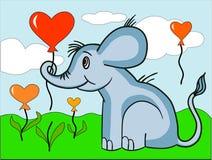 Leuke elefant met impulsen royalty-vrije illustratie