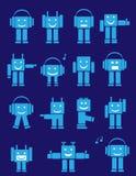 Leuke emotionele robots Royalty-vrije Stock Afbeeldingen