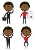 Leuke en grappige Afrikaans-Amerikaanse zakenlieden royalty-vrije illustratie