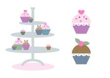 Leuke en kleurrijke cupcakes Royalty-vrije Stock Afbeelding
