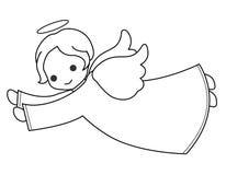 Leuke engel stock illustratie