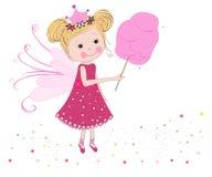 Leuke fairytale met gesponnen suikervector Stock Foto