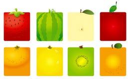 Leuke fruitachtergronden Royalty-vrije Stock Foto's