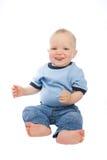 Leuke geïsoleerde baby royalty-vrije stock afbeeldingen