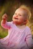 Leuke gelukkige baby stock afbeelding