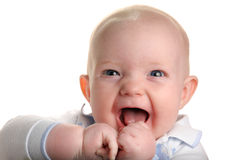 Leuke gelukkige baby Royalty-vrije Stock Foto
