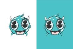 Leuke Gelukkige Emoticon Hoogst gedetailleerde vectorillustratie Stock Afbeeldingen