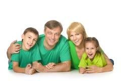 Leuke gelukkige familie Stock Foto