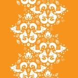 Leuke geometrische naadloze vossen verticale grens Stock Afbeeldingen