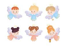 Leuke geplaatste engelen vector illustratie