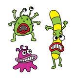 Leuke geplaatste monsters. stock illustratie