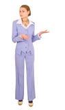 Leuke geschikte vrouw die pak draagt Royalty-vrije Stock Foto's