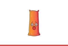Leuke geschokte Jelly Monster Royalty-vrije Stock Foto's