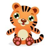 Leuke Gestreepte Baby Tiger Kid Graphic Illustration stock illustratie