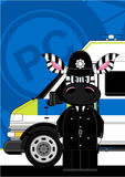 Leuke Gestreepte Politieagent Royalty-vrije Stock Fotografie
