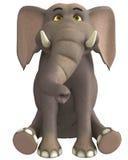 Leuke gezette olifant stock illustratie