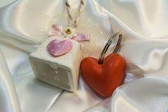 Leuke gift voor de dag van Valentine ` s Stock Fotografie