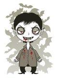 Leuke glimlachende vampier stock illustratie